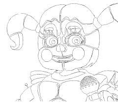 Fnaf Sister Location Baby Coloring Pages