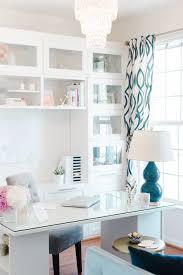 blue white office space. clean sleek office tour with lacoya heggie blue white office space o