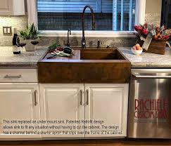 file retrofit copper farm sink replaces outdated under mount kitchen sink jpg
