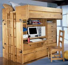 image of full size loft bed with desk full