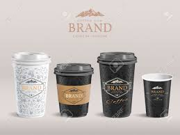 How To Design Paper Cup Elegant Paper Coffee Cup Design Takeaway Cup Packaging Set With