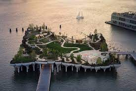 Heatherwick studio 's and mnla 's little island is a biodiverse park removed from manhattan. Arq 7kpg8mkn2m
