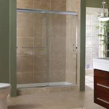 bathroom sliding glass shower doors. Marina Collection 3/8\u2033 Frameless Sliding Shower Doors | Foremost Bath Regarding Bathroom Glass