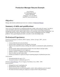 ... Astounding Ideas Production Manager Resume 12 Resume Samples ...
