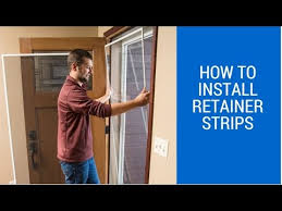 how to install the retainer strips on your storm door
