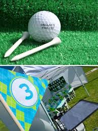 Golf Ball Decorations Sports Party An Adorable Boy's Golf Party Spaceships and Laser 66