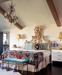 carpets bedrooms ravishing home. White Bohemian Bedroom With Exotic Indian Inspiration Also Exposed Wooden Beams And Contrast Bedding Sheet Ravishing Red Walls Strike Burst Fabric Carpets Bedrooms Home D