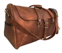 ph998 triangular ii lesack leather flap travel bag duffel carry on luggage size 24