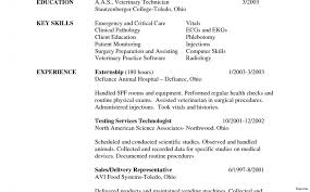 Veterinary Resume Samples Resume Samples Kitchen Hand Examples And Writing Letter Vet Tech 91