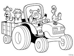 Farm Animals Coloring Pages Printable Preschool Page Of Happy 4f For