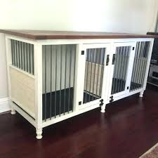 wooden dog crate furniture. Dog Kennel Furniture Double Crate Original Table . Wooden H