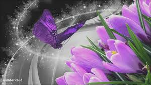 Wallpaper Bunga Cantik Bergerak Sparkle Flower Hd