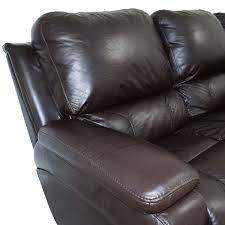 la z boy la z boy brown leather reclining sofa