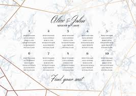 Seating Chart Wedding Wedding Seating Chart Poster Template Geometric Design In Rose