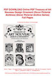 2286 Traditional Stencil Designs Pdf Pdf Download Online Pdf Treasury Of Art Nouveau Design