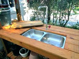outdoor sink s station bbq diy powered by a water hose cabinet bunnings