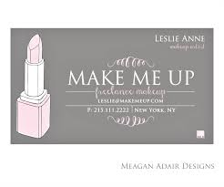 freelance makeup artist business cards