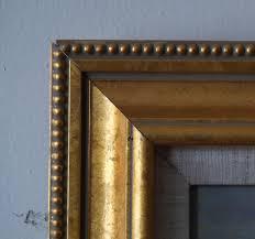 gold frame beaded outside