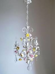 porcelain chandelier antique vintage tole with flowers a s key of c