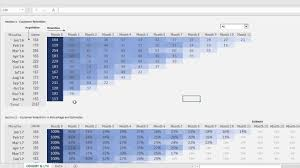 How To Make A Cohort Chart In Excel Cohort Analysis In Excel