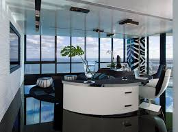 Example Of A Trendy Freestanding Desk Black Floor Home Office Design In Miami With White Walls