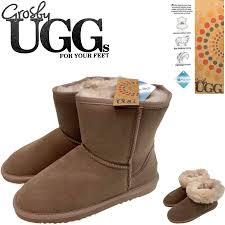 grosby jillaroo las ugg boots genuine sheepskin suede leather high classic moccasins mushroom grosby