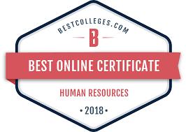 The Best Online Certificate In Hr Programs Of 2018 Bestcolleges Com