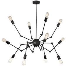 12 lt chandelier adjust arm w t14 vintage bulb