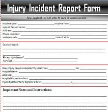 Accident Report Form Template Fresh Free Incident Report Template