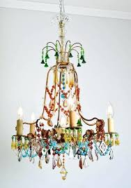 one bulb chandelier beautiful and unique multicolored crystal glass chandelier very rare and one of a one bulb chandelier