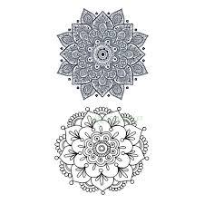 Vodotěsný Dočasné Tetování Nálepka Sexy Lotus Henna Mandala Totem