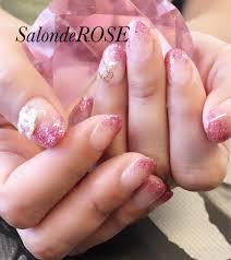 ピンクのラメグラデ 追加のchanelパーツは150円salonderose所属