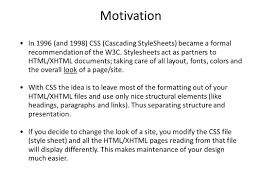 cascading style sheets lecture topics css o introduction o 3 motivation