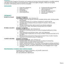 Caregiver Job Description For Resume Best of Caregiver Resume Template Caregiver Resume Sample Templates Job