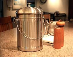 stainless steel compost pails kitchen accents 3 quart stainless steel compost pail stainless steel compost bin canada