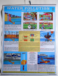 Pollution Chart Images India Vintage School Chart Poster Print Water Pollution