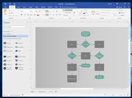 How To Make Flow Chart In Ms Word Easy Flow Charts In Microsoft Office Creating Flowcharts