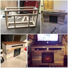 skid furniture ideas. DIY Electric Fireplace TV Stand Entertainment Center Pallet Skid Furniture Ideas A