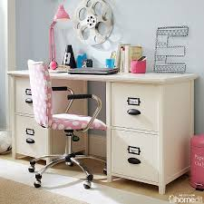 simple and functional chantal file desk with antique white drawer decor 2