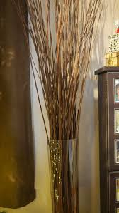 ... Magnificent Dried Long Sticks Inside Tall Cylinder Glass Decorative  Branches For Vases Ideally Placed Beside Closet ...