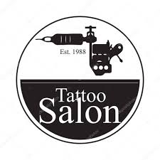 логотипы тату салонов тату салон логотип на белом фоне векторная