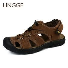 <b>LINGGE Brand</b> Cross Tied <b>Men Sandals</b> Summer Breathable <b>Shoes</b> ...