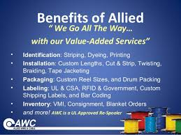 allied wire cable inc allied auto wiring diagram schematic allied wire cable vmi program on allied wire cable inc