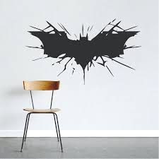 batman wall decal batman wall decal boys bedroom removable animal wall stickers black silhouette decals decor