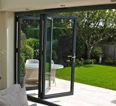 modern villa folding glass door space