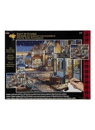 Shop Plaid Plaid Paint By Number Starry Night Painting Craft
