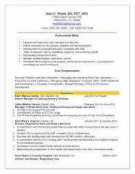 Sample Resume Objectives For Respiratory Therapist New Occupational