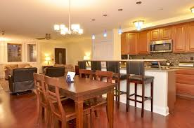 Open Floor Plan Living Room Furniture Arrangement Kitchen Living Room Open Floor Plan White Subway Tile Backsplash