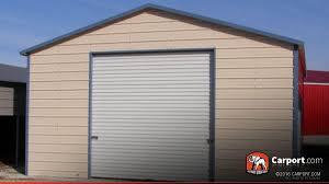 20x20 metal garage with 10x10 garage door