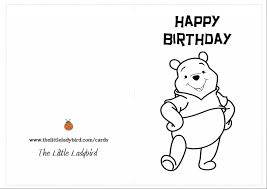 Small Picture Winnie The Pooh Birthday Card PrintableThePrintable Coloring